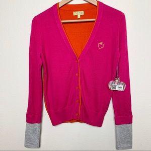 NWT VERA WANG PRINCESS S colorful cardigan C